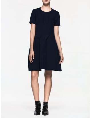 Calvin Klein platinum flared short sleeve dress