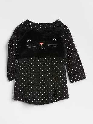 Gap Cat Long Sleeve T-Shirt Dress