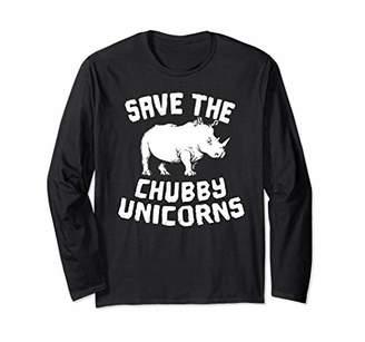 Save the Chubby Unicorns Long Sleeve shirt Rhino t shirt