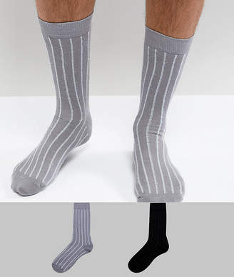 Asos Socks With Glitter Stripes 2 Pack
