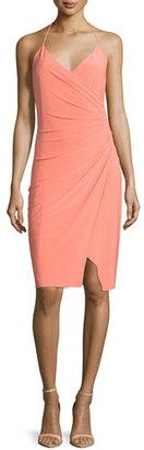 Laundry By Shelli Segal Racerback Faux-Wrap Dress, Fresh Salmon $168 thestylecure.com