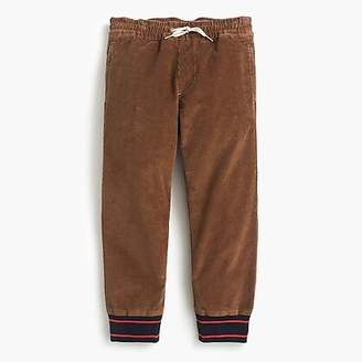 J.Crew Boys' corduroy pull-on pant with knit cuffs