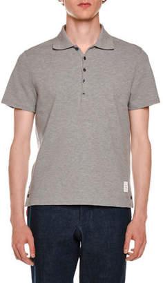 Thom Browne Short-Sleeve Pique Polo Shirt