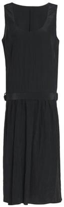Jil Sander Belted Crinkled Shell Dress