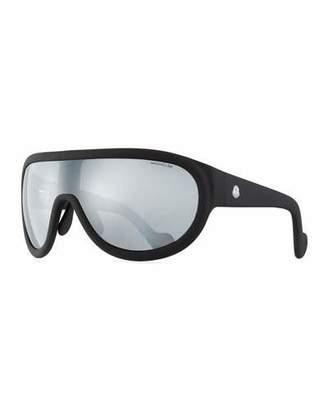 Moncler Mirrored Shield Sunglasses, Black