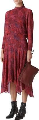 Whistles Carlotta Abstract Animal Print Dress