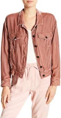 Pam & Gela Oversized Velvet Jacket