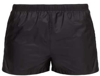 Prada Elasticated Waist Nylon Swim Shorts - Mens - Dark Grey