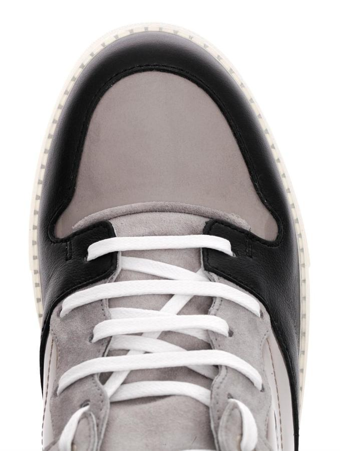 Balenciaga Multi-block leather and suede trainers