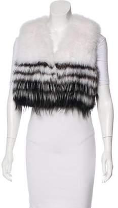 J. Mendel Fox Fur Crop Vest