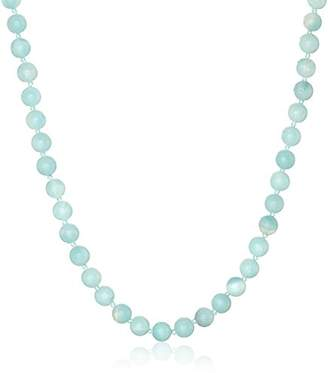 Lapis Sterling Silver 6mm Peruvian Amazonite Necklace