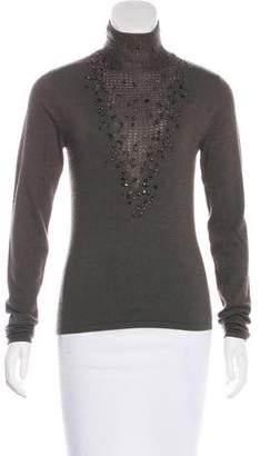 Akris Cashmere & Silk Embellished Sweater