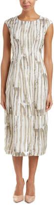 Lafayette 148 New York Jayden Linen-Blend Midi Dress