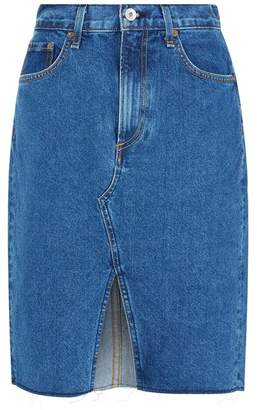 Rag & Bone Suji Front Split Denim Skirt