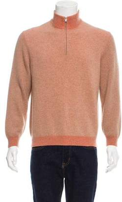 Brunello Cucinelli Half-Zip Cashmere Sweater