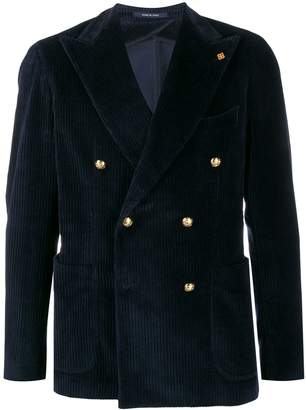 Tagliatore double breasted corduroy jacket