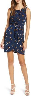 Leith Tie-Front Mini Dress