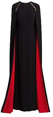 Escada Women's Girah Contrast Lined Cape Gown