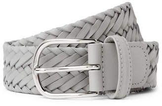 Andersons Anderson's - 3.5cm Grey Woven Leather Belt