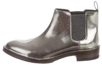 Brunello Cucinelli Metallic Ankle Boots w/ Tags