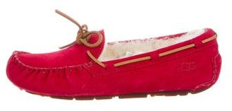 UGG Australia Shearling Moccasin Flats $95 thestylecure.com