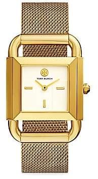 Tory Burch Women's Phipps Goldtone Stainless Steel & Mesh Bracelet Watch