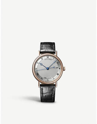 Breguet G9067BR12976 Classique 18ct rose-gold and alligator-leather watch