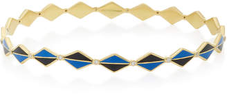 Amrapali Mosaic 18k Gold and Enamel Bangle