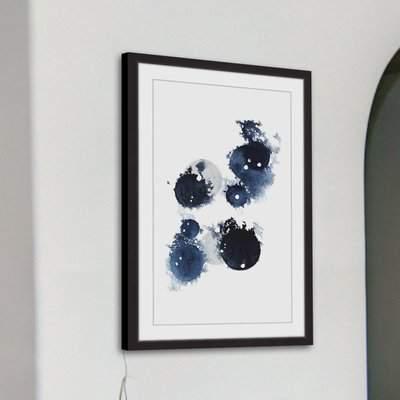 Wayfair 'Blue Galaxy III' Framed Watercolor Painting Print