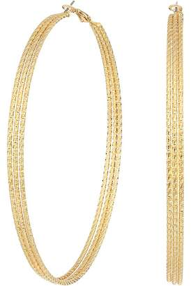 GUESS 3 Textured Wire Extra Large Hoop Earrings Earring