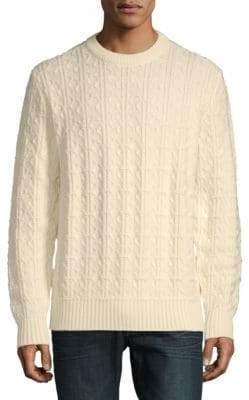 Brioni Long Sleeve Wool Knit Crewneck Sweater