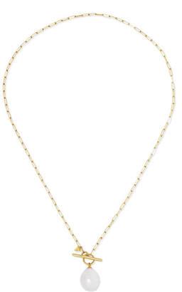 Loren Stewart - 14-karat Gold Freshwater Pearl Necklace