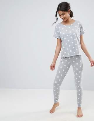Asos Star Print Tee & Legging Pajama Set