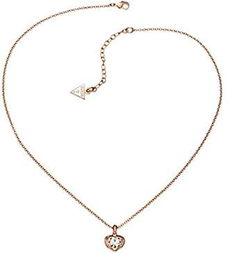 GUESS Women Pink Pendant Necklace of Length 42cm UBN51421