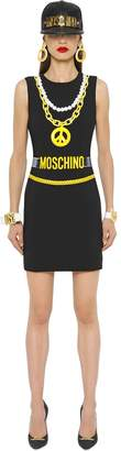 Moschino Necklaces & Belts Printed Crepe Dress