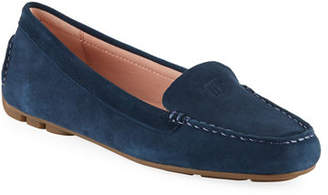Taryn Rose Kacey Water-Resistant Suede Loafers