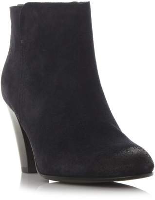 Dune BLACK LADIES PHARAH - Back Zip Heeled Ankle Boot