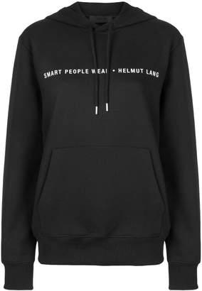 Helmut Lang logo hooded sweatshirt