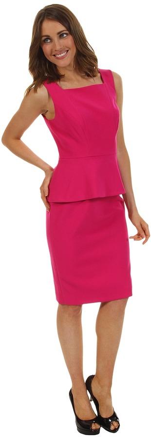 Anne Klein Peplum Sheath Dress (Peony) - Apparel