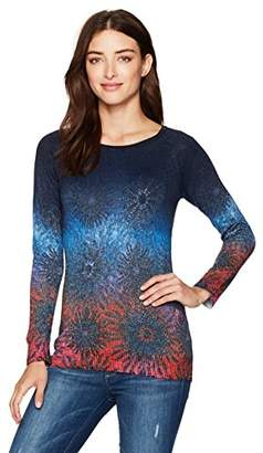 Desigual Women's Basic Carlin Woman Flat Knitted Thin Gauge Pullover