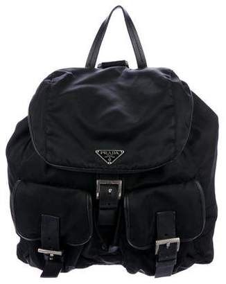 2297b396143d france prada black nylon drawstring backpack 87d76 477f8  promo code for  pre owned at therealreal prada tessuto drawstring backpack 17175 18b8d