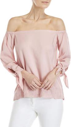 Jessica Simpson Pale Mauve Odette Off-the-Shoulder Top