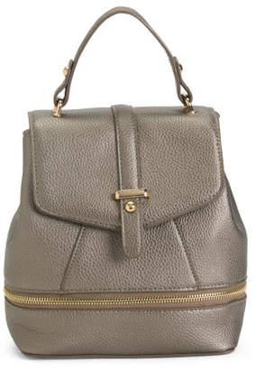 Flap Front Zip Bottom Backpack
