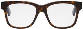 Gucci Tortoiseshell Web Square Glasses