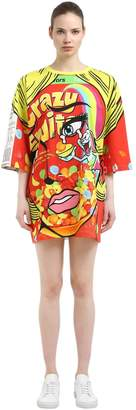 Moschino Eyes Oversized Jersey T-Shirt Dress