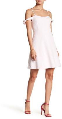 Kensie Cold Shoulder Crepe Dress $79 thestylecure.com