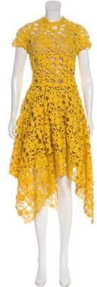 Oscar de la Renta 2019 Floral Lace Dress Yellow 2019 Floral Lace Dress