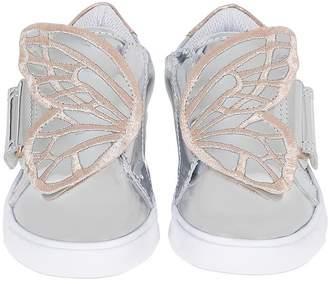 Sophia Webster Bibi Mini Metallic Leather Sneakers