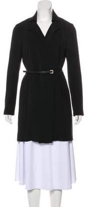 Halston Belted Knee-Length Coat