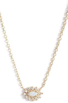 Chicco Zoe Diamond & Opal Cluster Pendant Necklace